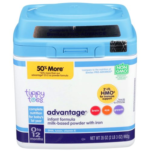 Advantage Infant Formula Milk-Based Powder with Iron 35oz