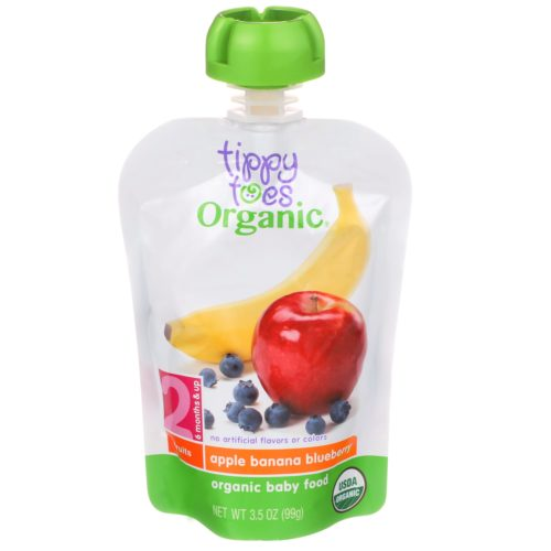 Apple Banana Blueberry Baby Food Pouch