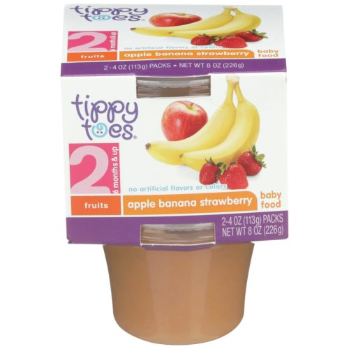 Apple Banana Strawberry Baby Food Cup