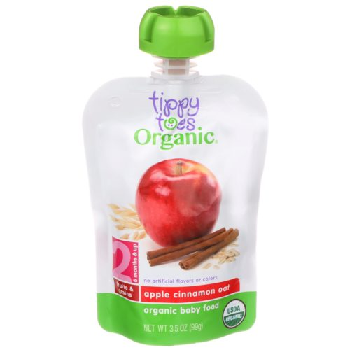 Apple Cinnamon Oat Baby Food Pouch