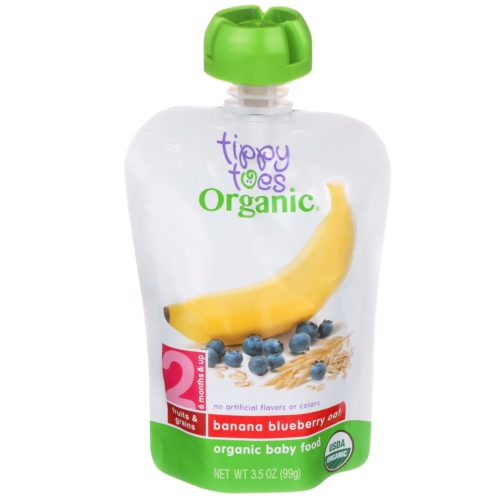 Banana Blueberry Oat Baby Food Pouch