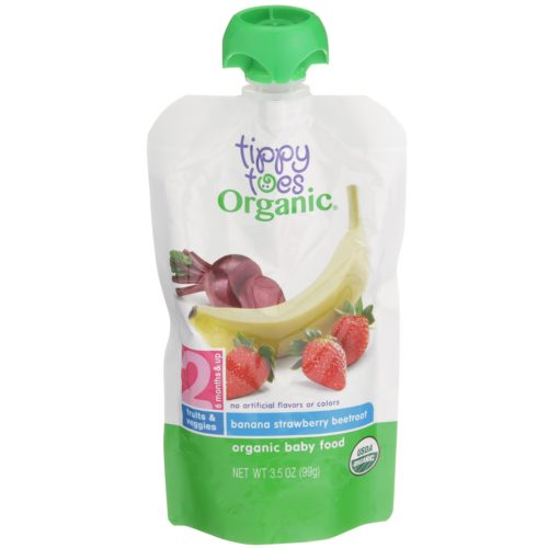 Banana Strawberry Beetroot Baby Food Pouch