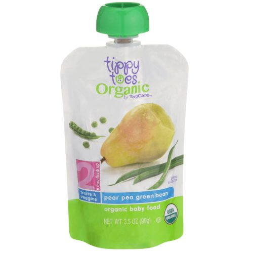 Green Bean Pear Peach Baby Food Pouch