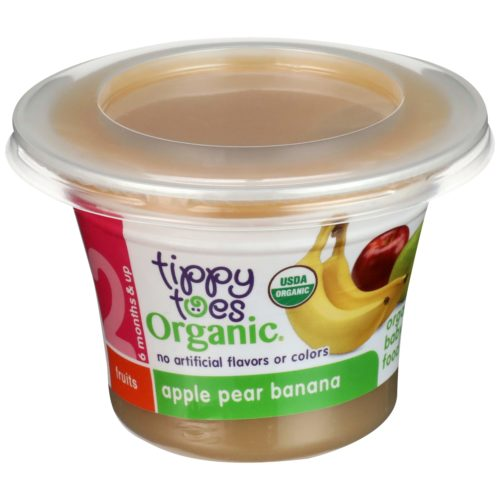 Organic Apple Pear Banana Baby Food Cup