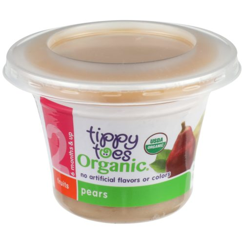 Organic Pears Baby Food Cup