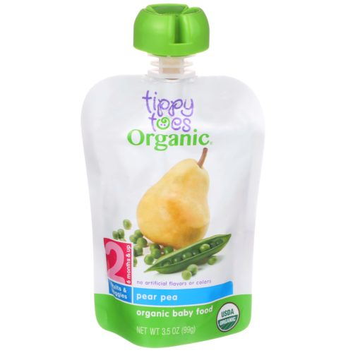Pear Pea Baby Food Pouch
