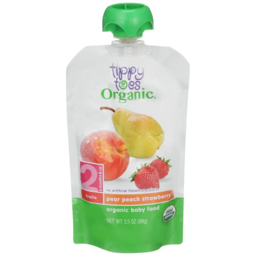 Pear Peach Strawberry Baby Food Pouch